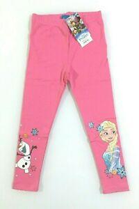 Disney Frozen 2  leggins lunghi caldo cotone bambina 100% cotone 3-8 anni Fuxia