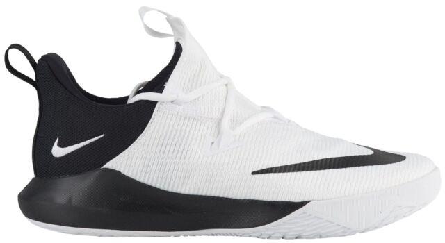 f8086587ea4 Nike Zoom Shift 2 Mens AR0461-100 White Black Textile Basketball Shoes Size  9