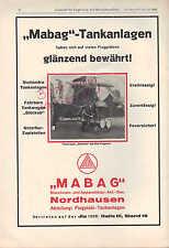 NORDHAUSEN, Werbung 1928, MABAG Maschinen-Apparate-Bau AG Flugplatz-Tankanlagen