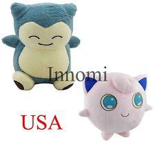 2Pcs Set Snorlax and Jigglypuff Pokemon Plush Toy Stuffed Soft Doll High Quality