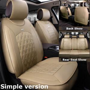 Excellent Details About Simple Beige Car Microfiber Leather Seat Covers For Nissan Altima Sentra Rogue Machost Co Dining Chair Design Ideas Machostcouk