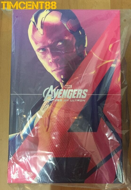 Ready Hot Toys MMS296 Avengers Age of Ultron AOU Vision Figure 1/6 Nuovo 12 inch