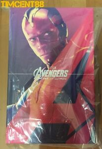Prets-Hot-Toys-MMS296-Avengers-Age-of-Ultron-AOU-Vision-figure-1-6-NEUF-12-in-environ-30-48-cm