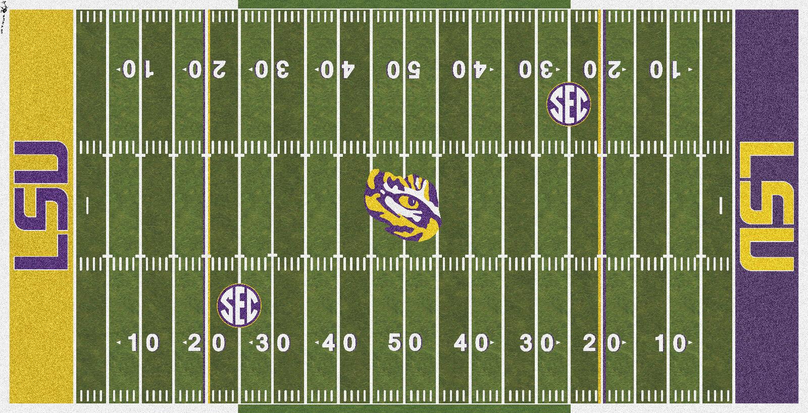 Louisiana State LSU Tigers Fútbol eléctrica Cubierta De Campo De Vinilo