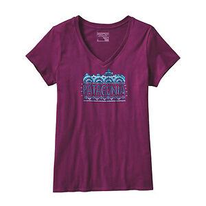 Patagonia shirt bio Fitz a baumwoll shirt V donna gr T M con l scollo Roy T S donna n0vIxPw