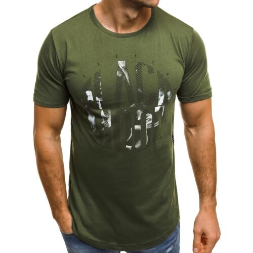 OZONEE 532 Hommes T-shirt manches courtes shirt personnage souligne Avec Motif Slim Fit Mix