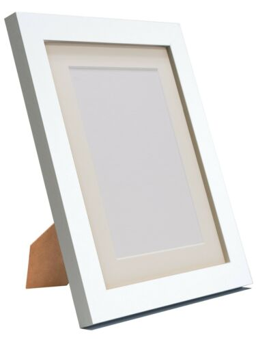 with White Black Ivory Pink Blue Mounts H7 White Photo Picture Frames pack of 2