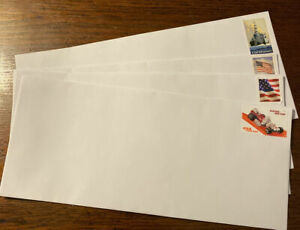 5 pre FOREVER stamped # 10 envelopes. GREAT BUY! FAST FREE SHIP USA STRIP/SEAL!