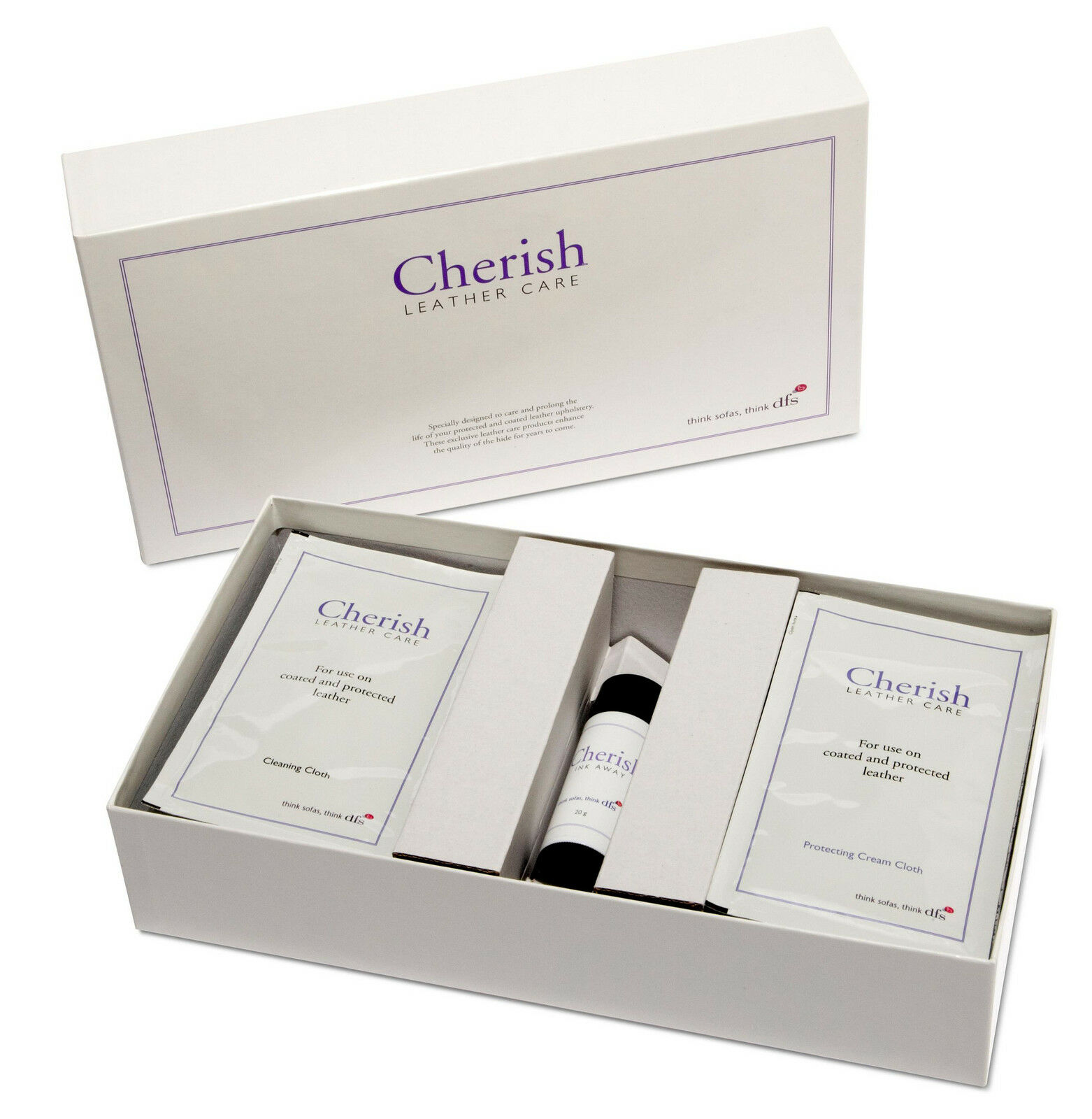 DFS ficial Cherish leather Sofa Cleaner Care Kit With Wipes and