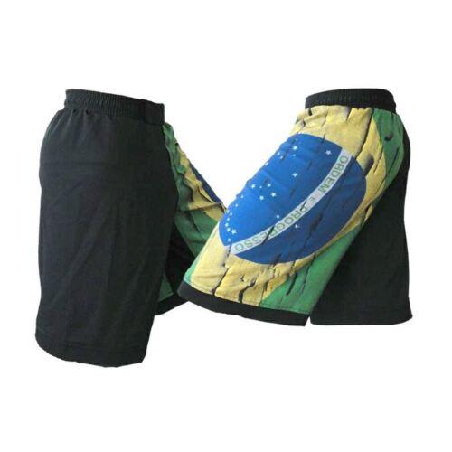 Distressed Brazil Flag MMA Shorts