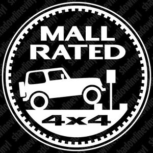 jeep mall rated trail rated badge decal sticker wrangler