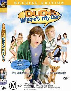 Dude-Where-039-s-My-Car-R4-DVD-2002-Ashton-Kutcher-Seann-William-Scott-FREE-POST