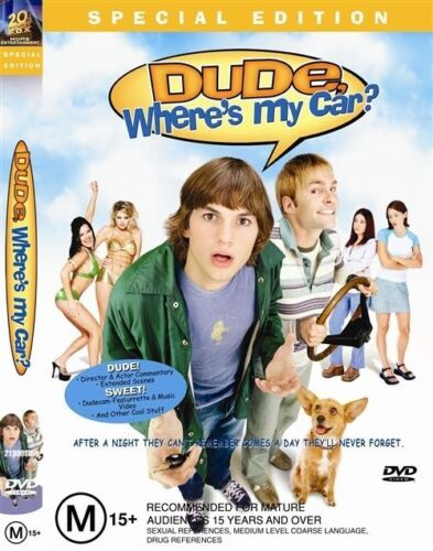 1 of 1 - DUDE, WHERE'S MY CAR? DVD=SPECIAL EDITION=ASHTON KUTCHER=REGION 4=NEW AND SEALED