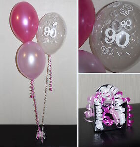 Image Is Loading 90th Birthday Balloons DIY Party Decoration Kit Clusters