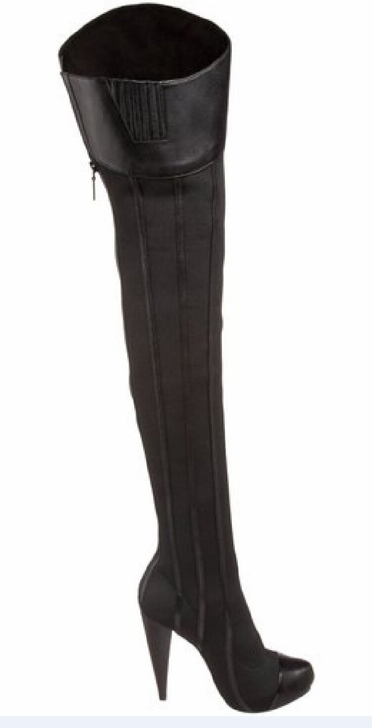 Report signature ( steinway ) HIGH HEEL OVER OVER OVER THE KNEE BOOT, BLACK 41f5b7