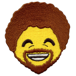 Big Afro Painter Artist Emoji Iron-On Embroidered Patch