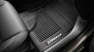 Toyota Corolla 2017 2019 Black All Weather Rubber Floor Liner Mats Set Oem New Ebay