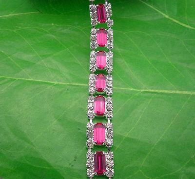 Diy applique rectangle colorful resin rhinestone close silver claw chain 1Yard