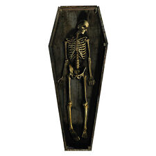 SKELETON COFFIN Casket CARDBOARD CUTOUT Standup Standee Scary Halloween Prop