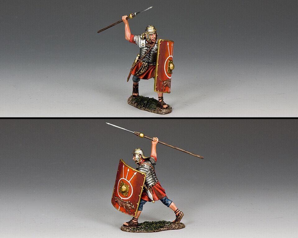Re & Paese Romana Impero ROM023 Romana Legionario che Lancia Pilum MB