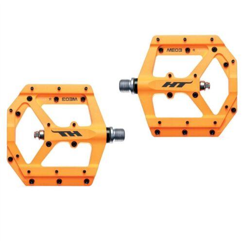 ME03 flat pedals orange HT-COMPONENTS flat bike pedals