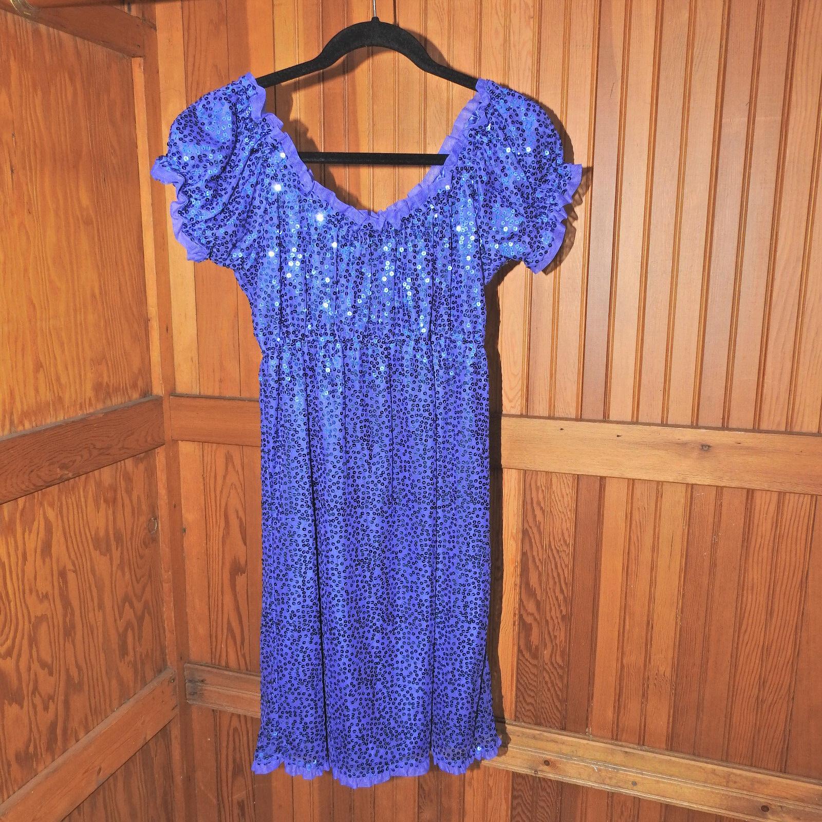Betsey Johnson Purple Sequins Dress Size 6