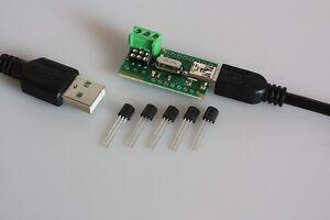 USB-Temperatur-Sensor-Tester-5-x-DS18B20-Thermometer-Temperaturfuehler