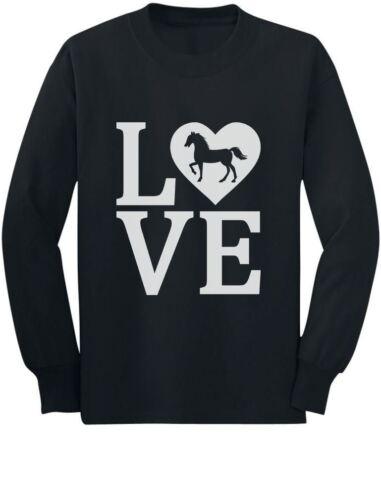 Love Horses Gift For Horse Lover Toddler//Kids Long sleeve T-Shirt Rearing Horse