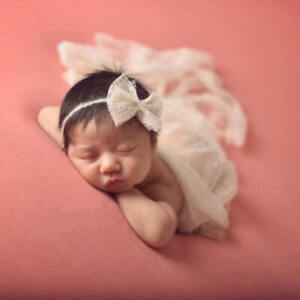 Newborn Baby 4Colors Polyester Photography Photo Shoot Props Lace Blanket