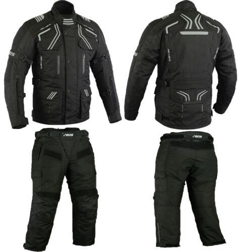 Sommer Motorradjacke  und hose,sommer textile Motorradkombi 5XL schwarz M