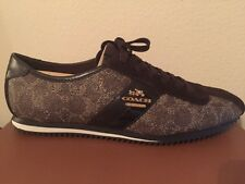 New  Coach Ivy Signature Peb Embs Pvc/Sde Black-Brk/Chestnut Sneakers Sz 7.5M