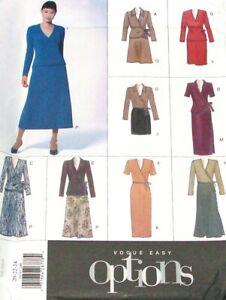 Vogue-2074-Pattern-Flared-Skirt-V-Neck-Wrap-Top-Var-Casual-Career-Size-20-24