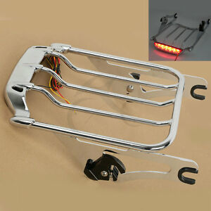 Brake Led Light Air Wing Luggage Rack For Harley Road King