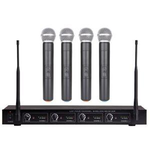 4-Mic-Wireless-Microphone-System-UHF-Profi-4-Handheld-Wireless-mic-system