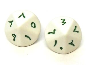 NEW-Pair-of-Arabic-Numbered-D10-Dice-10-Sided-Language-Dice-D-amp-D-RPG-Game