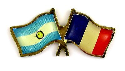 Pin's pin badge ♦ FLAG DRAPEAUX ARGENTINE FRANCE