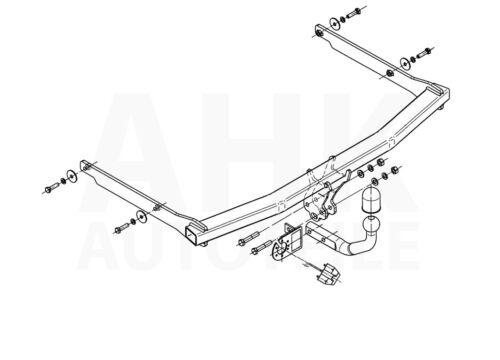 Für Ford Focus II Fließheck 08-11 Anhängerkupplung starr+ES 13p spez Kpl.