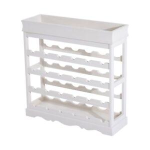 Portabottiglie In Legno Bianco.Dettagli Su Homcom Mobiletto Cantinetta Portabottiglie 24 Alloggi 70x22 5x70cm Bianco Legno