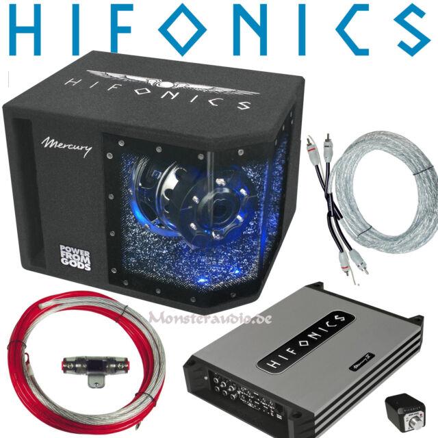 ESX Car Hifi Soundpaket 4-Kanal Verstärker /& Basskiste 30cm Subwoofer /& Kabelset