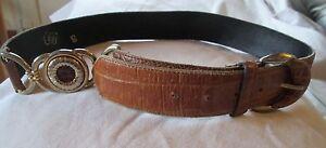 Magnifique-ceinture-made-in-Italy-en-cuir-TBEG-vintage-T-95-cm-Belt