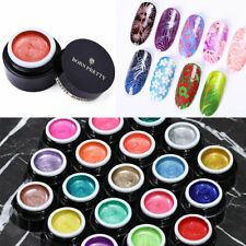 3-6Boxes BORN PRETTY Powder Glitter Nail Stamping Gel Polish for Stamping Plates