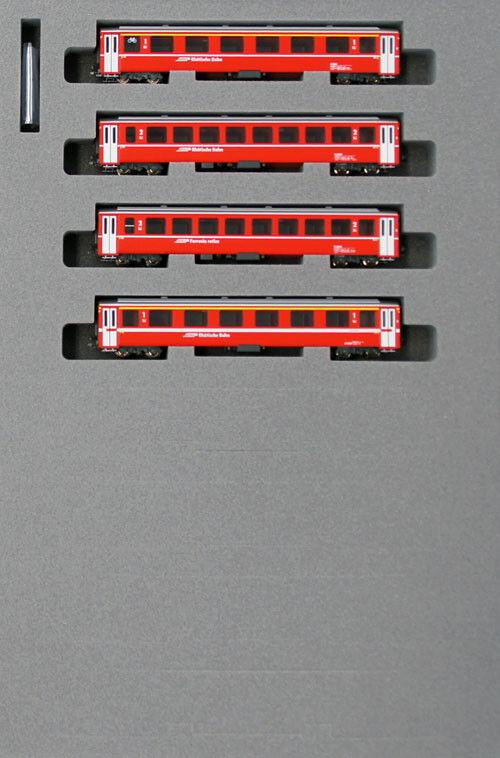 Kato 10-1414 Swiss Alpine Red Passenger Car EW-I 4 Cars Add-on Set (N scale)