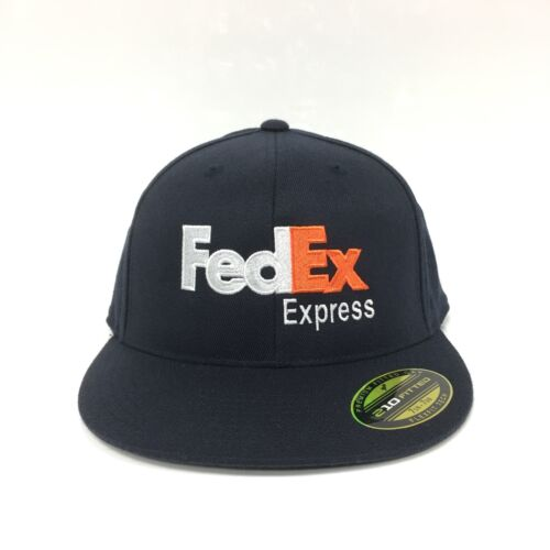 FedEx Express Flexfit Fitted Cap Premium 210 Fitted Hat Dark Navy 7 1//4-7 5//8
