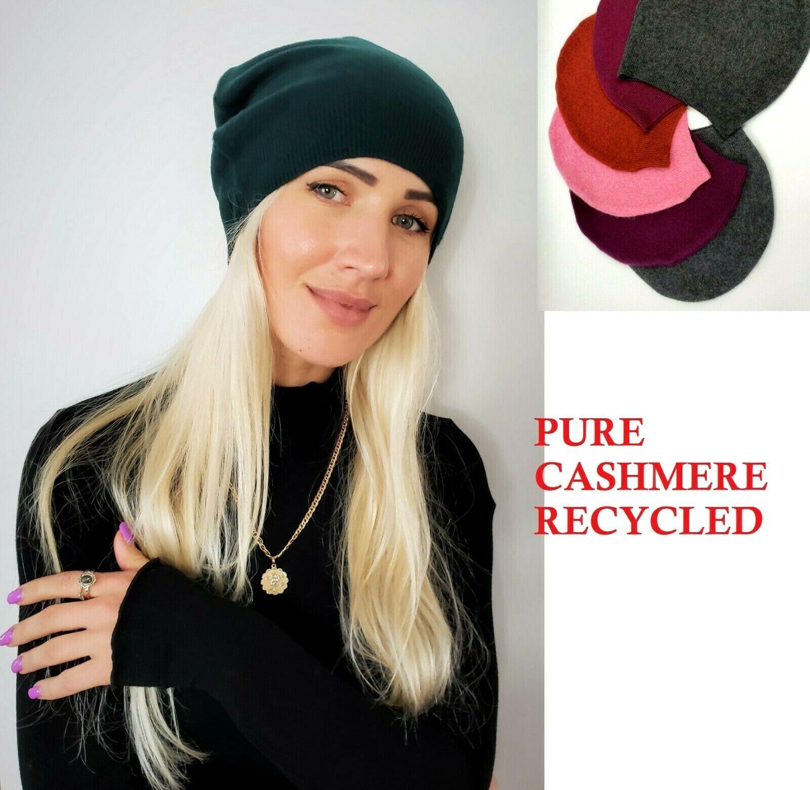 # 100% Pure Cashmere Sombrero Gorro de Lana Hombre Mujer Unisex Hecho a Mano A003