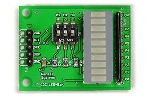Test-u-Experimentierboard-I2C-Bus-LED-Bargraph-Arduino-Raspberry-PCF8574-IIC