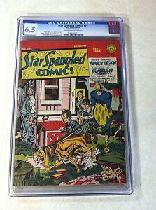 STAR-SPANGLED-COMICS-24-CGC-6-5-1943-SIMON-KIRBY-SIEGEL-ROBOTMAN-NEWSBOY-LEGION
