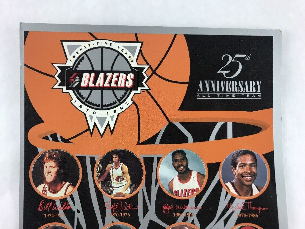 Blazers 25th Anniversary 1970 Pogs - 1995 Collectible Pogs 1970 Limited Edition 1994 eaab1f