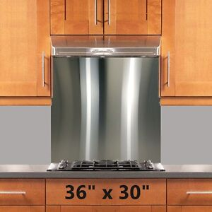 Image Is Loading Backsplash Stainless Steel 36x30in Stove Range Hood Wall