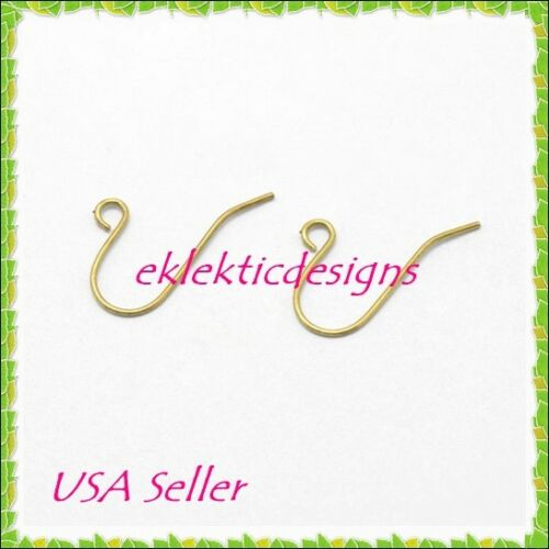 20pc Unplated BRASS French Fish Ear Wire Hook Simple Swoop Earrings 10pr Finding
