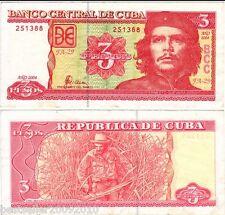 3 PESO Che Guevara RARE ITEM UNC # 570